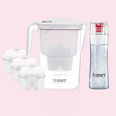 BWT Vida vízszűrő kancsó (fehér) 3db szűrővel és 1 db kulaccsal