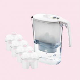 BWT Slim vízszűrő kancsó (3.6 L, fehér) 4 db szűrővel